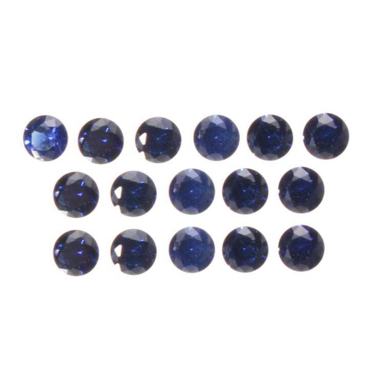 16PCS 2.5mm Round Intense Royal Blue Sapphire Natural Gemstone Blue Corundum
