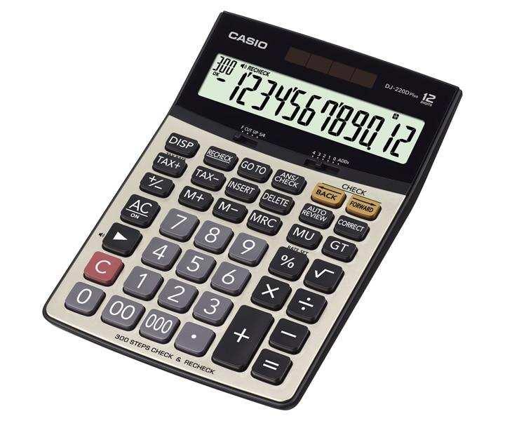 Casio Desktop - C & C Calculator DJ-220D PLUS