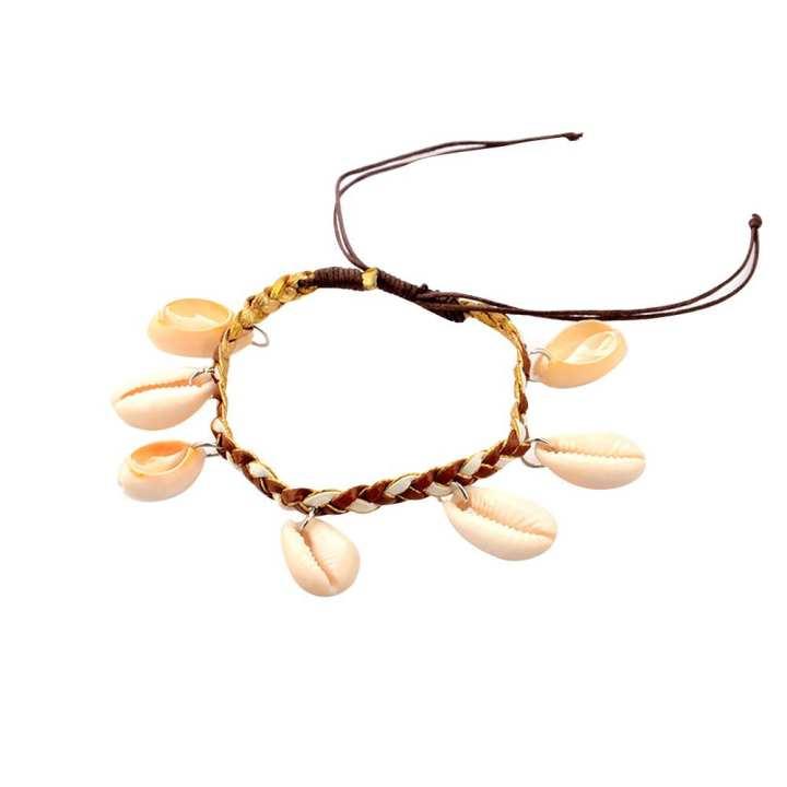 FashionieStore 2018 Shell Beach Tassel Foot Anklet Cowrie Sea Shells Nautical Anklet Bracelet