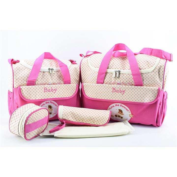 UR Large Capacity Mummy Bag 5pcs/Set Multifunctional Fashion Ducks Prints Handbag