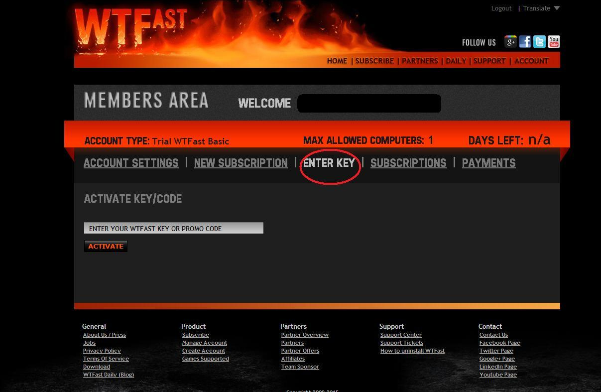 WTFAST 3 MONTHS TIME CODE - ADVANCE