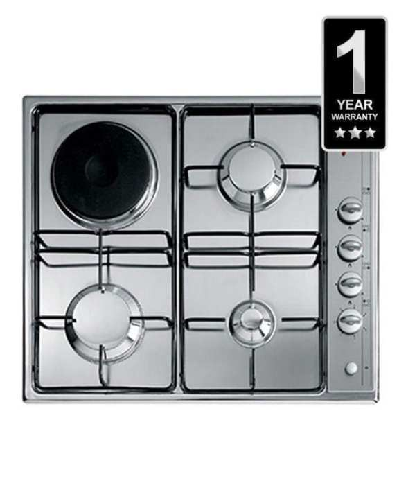 ELBA ES 60-401BK Built-in Automatic Ignition Gas Cooker Hobs - 4 Gas Burners and 1 Triple Ring Wok Burner