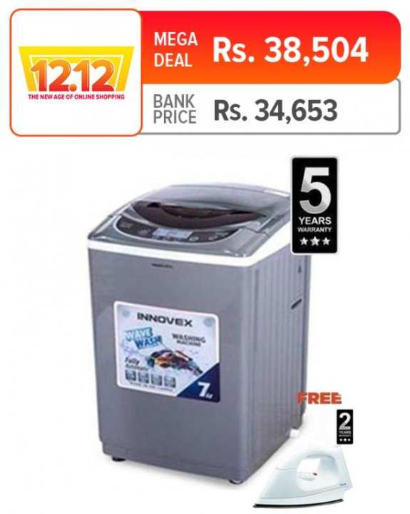 Innovex 7Kg Fully Automatic Top Loading Washing Machine - IFA70S