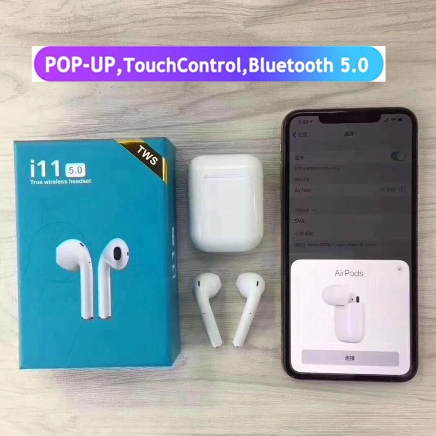 Wireless Airpod i11 Tws True Bluetooth Headset 5 0 Touch Control Bin-aural  Sports Earbuds Headphone for All Smart Phone