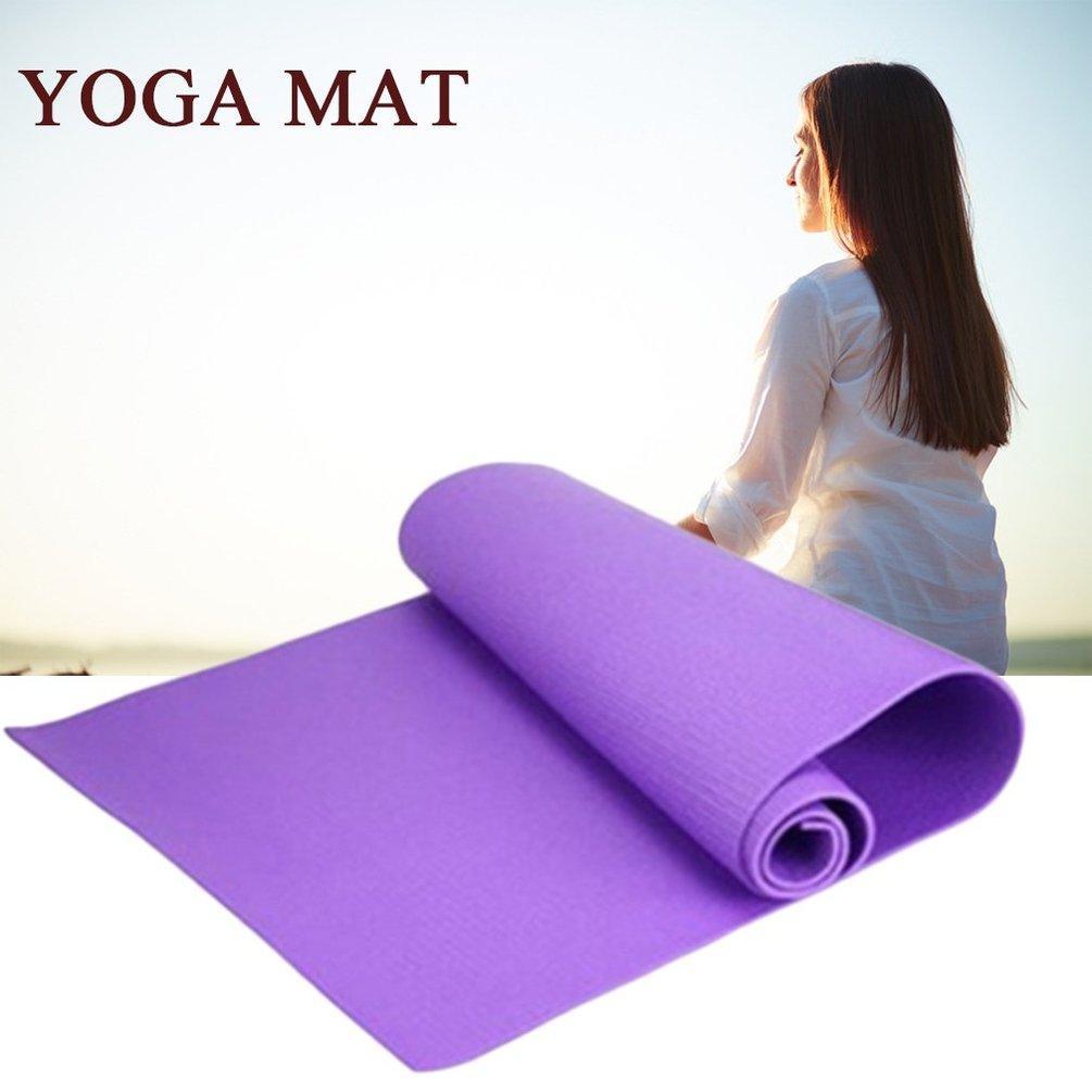 Ur 6mm Thick Non Slip Yoga Mat Exercise Fitness Lose Weight 180cmx60cmx0 6cm Purple