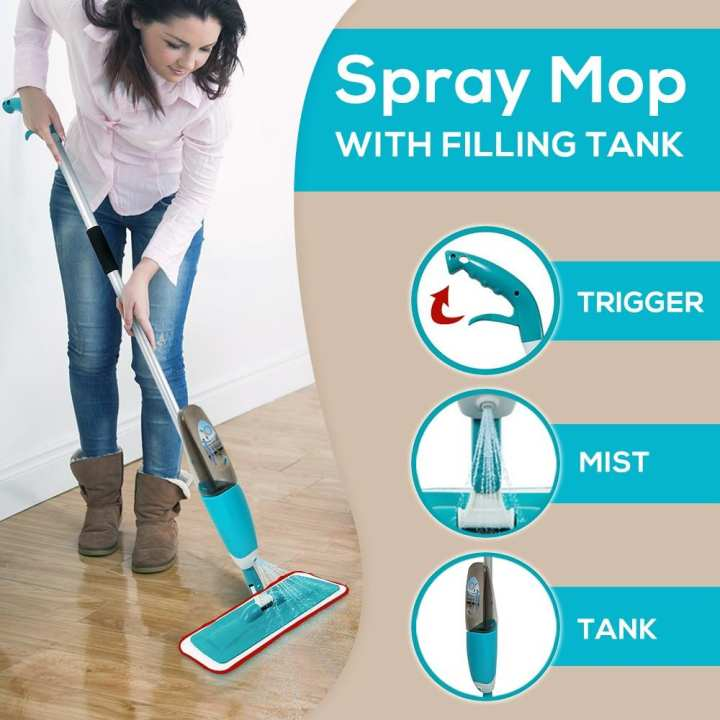 Healthy Spray Mop with Washable Cleaning Pad