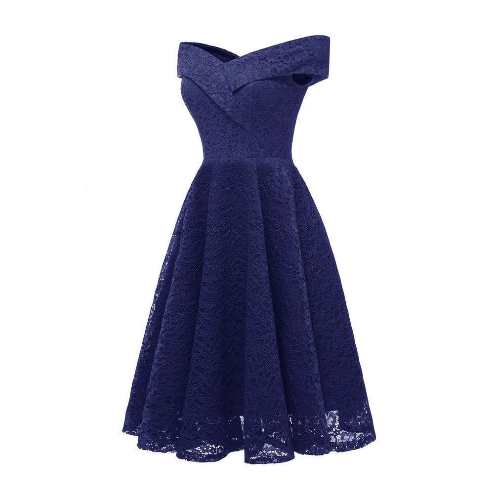 JoyLife Women V-neck Collar Lace Splicing Sleeveless Elegant Floral Lace Dress CD1610