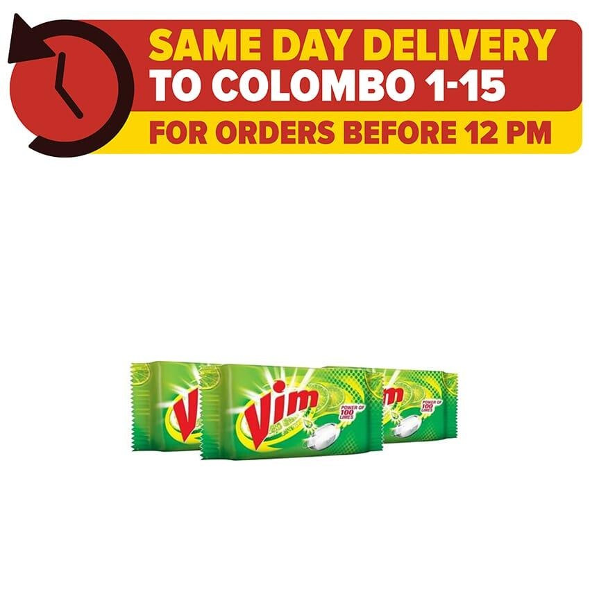 Bundles of 3 VIM Dish Wash Bar 400g