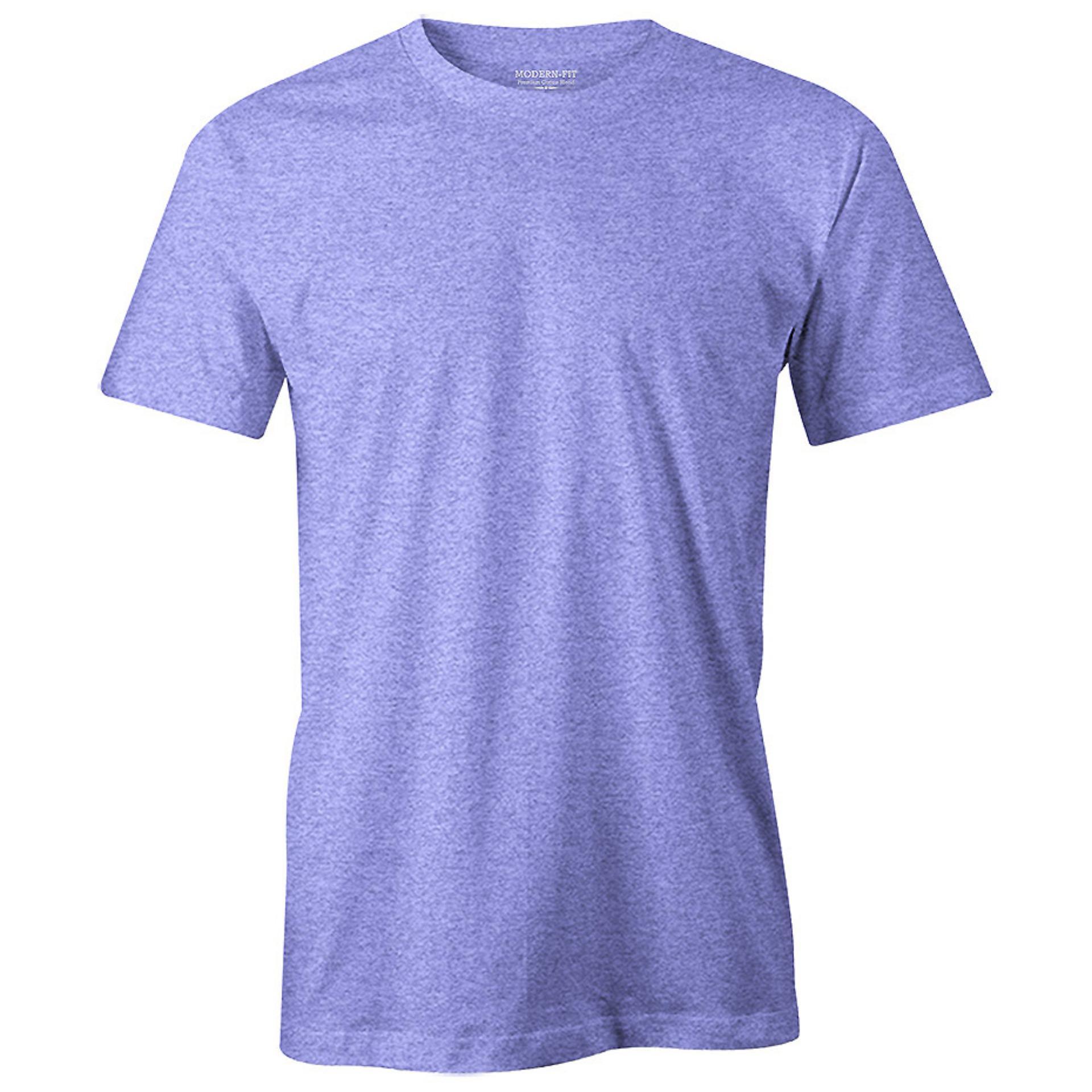 52898ff1 Indigo Marl - Mens Premium Crew Neck T-shirt