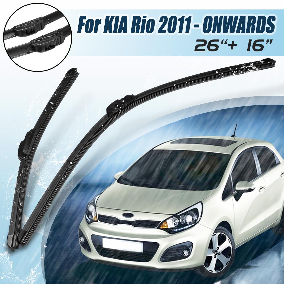 For Motors Kia Rio 2011 Onwards Brand New Front Windscreen Wiper Blades 26 16 Buy Sell Online Best Prices In Srilanka Daraz Lk
