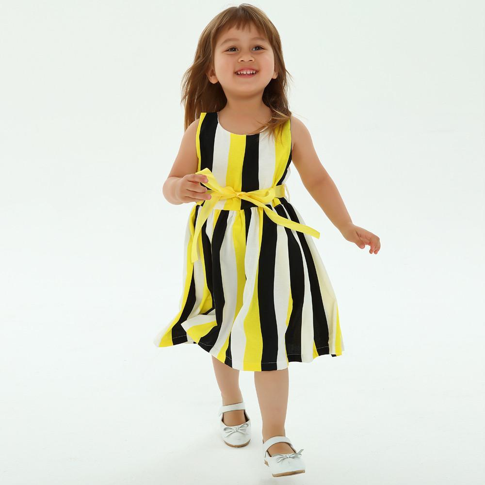 042977a84 Toddler Kids Baby Girl Clothes Printing Sleeveless Sashes Dress Princess  Dresses