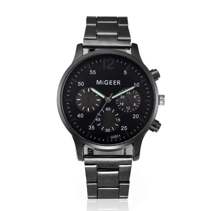FashionieStore Men's wristwatch Fashion Man Crystal Stainless Steel Analog Quartz Wrist Watch