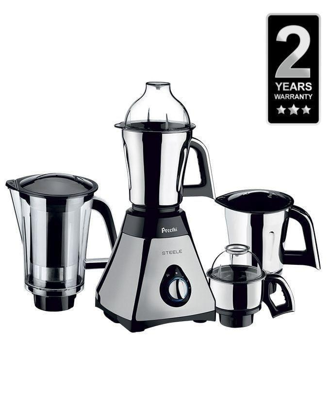 Preethi MG172E Steele 750W Mixer Grinder with Super Extractor