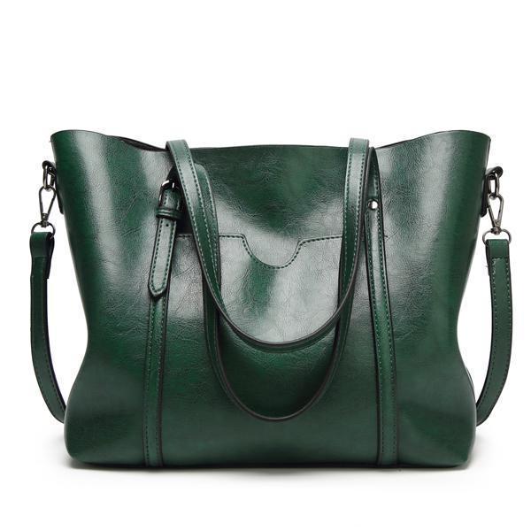d20802d5c Women Tote Handbags Vintage Front Pocket Shoulder Bags Large Capacity  Crossbody Bags #green