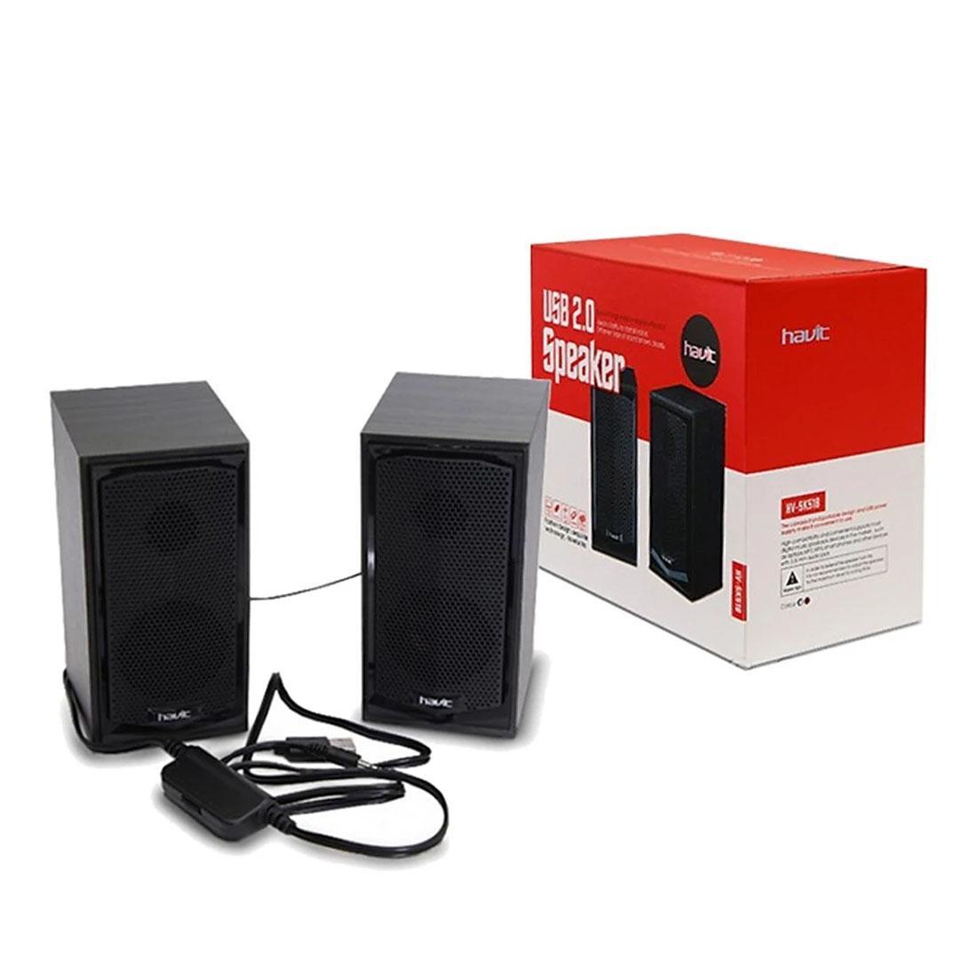 Havit HV-SK518 USB Powered 2.0 Wood Speaker_Black color: Buy Sell Online @  Best Prices in SriLanka | Daraz.lk