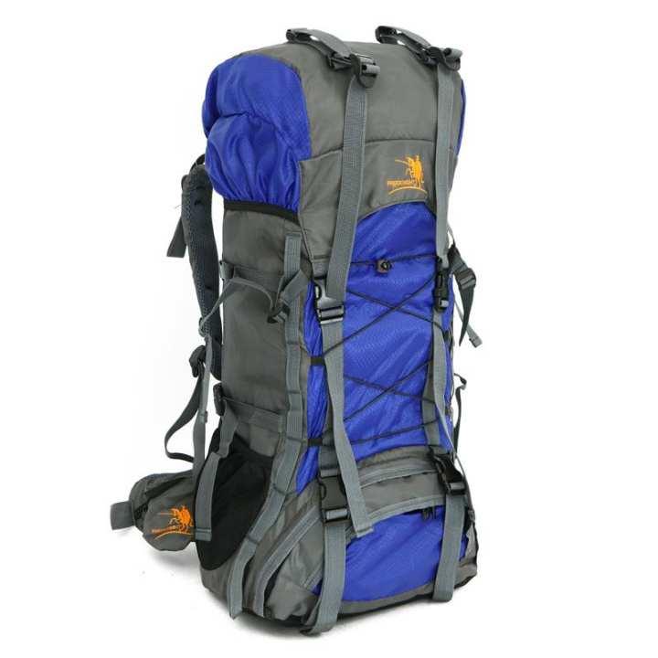 60L Outdoor Trekking Backpack Waterproof Nylon Travel Bag Camping Bag