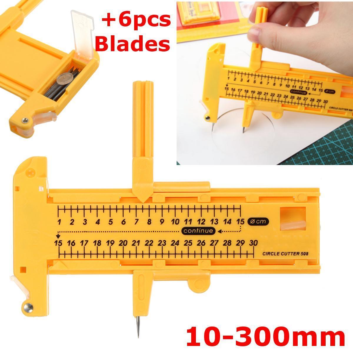 Adjustable Compass Circle Cutter Diameter 12-300mm Paper Craft Tool