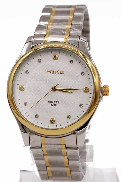 MIke branded Two Tone Wrist Watch for Men Water Resistant
