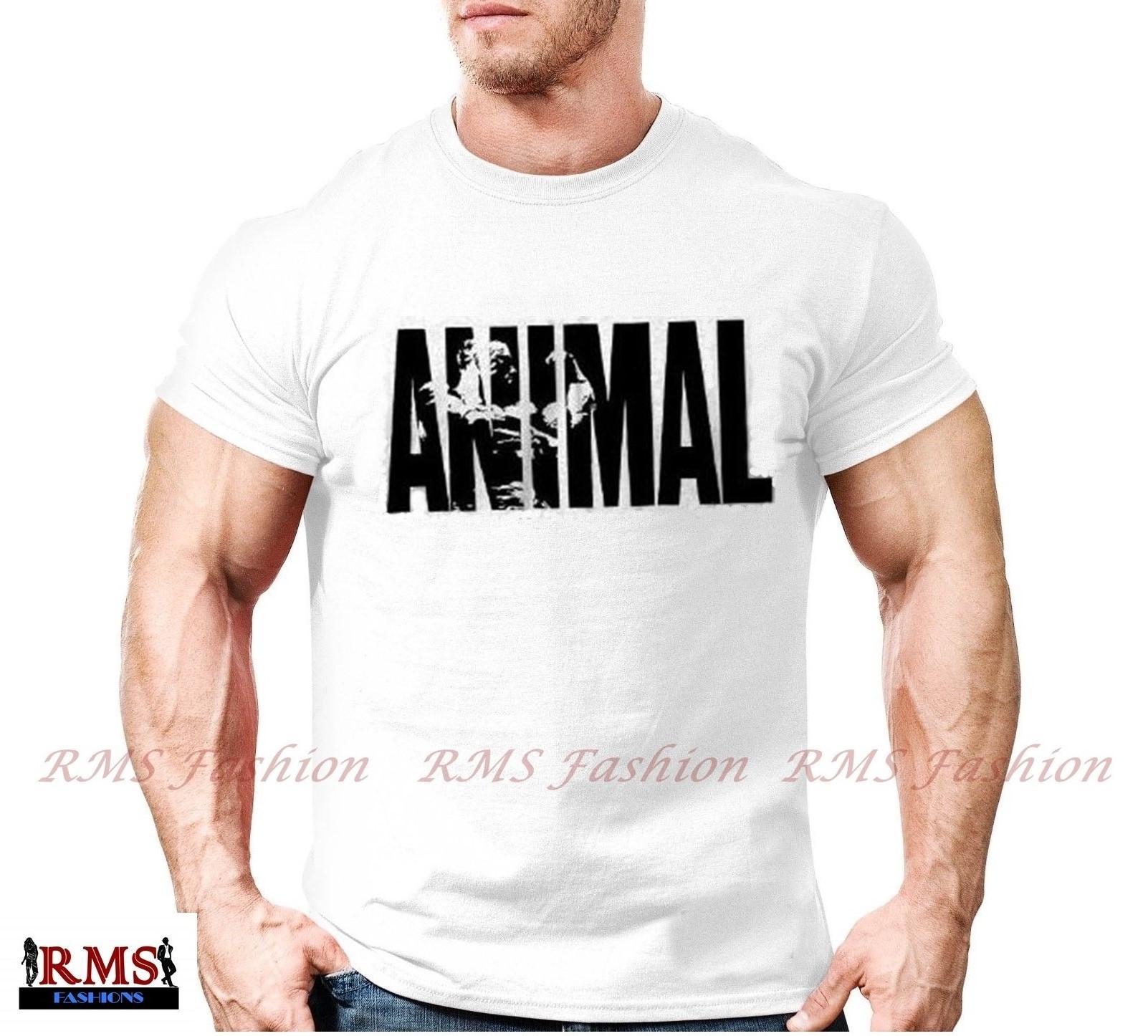 Men's Animal Body-Fit  T-shirt - White