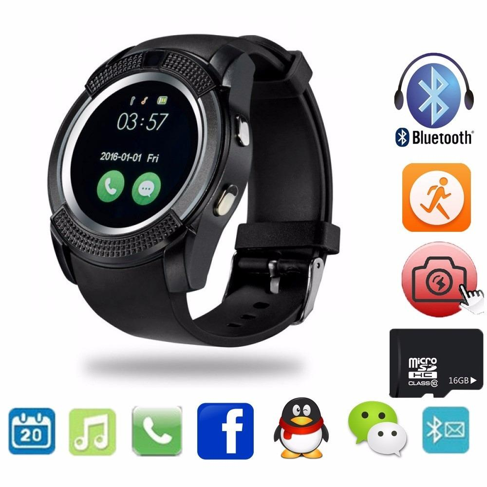 Men's Black Bluetooth Smart Watch