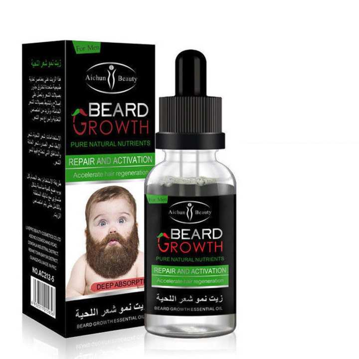 Beard Hair Growth Stimulation Oil - Organic Herbal