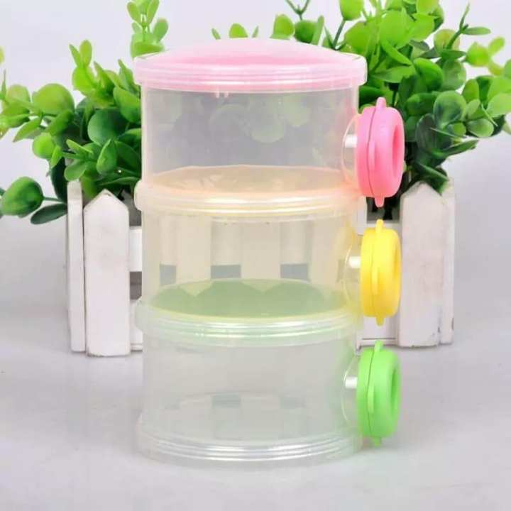 3 Layers Portable Infant Baby Milk Powder Container