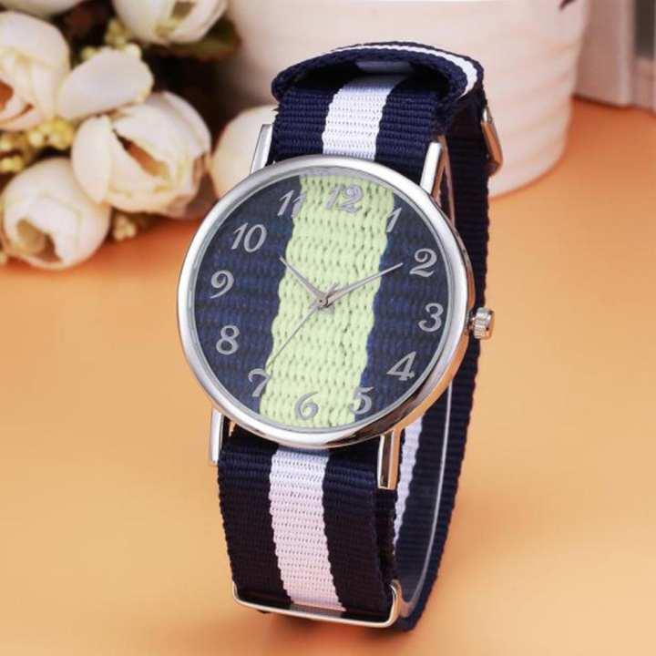 FashionieStore Men's wristwatch Luxury Fashion Canvas Mens Analog Watch Wrist Watches