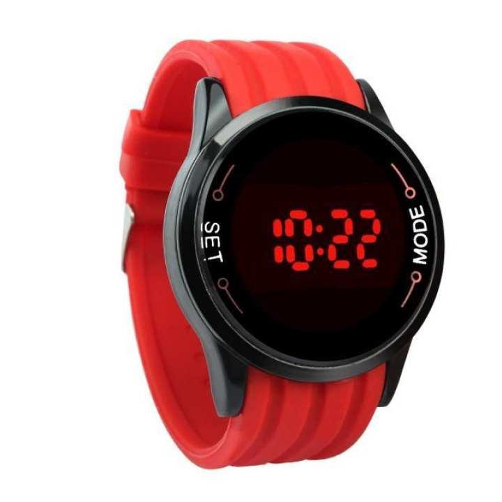 FashionieStore Men's wristwatch Waterproof Mens Watch LED Touch Screen Date Silicone Wrist Black Watch BK