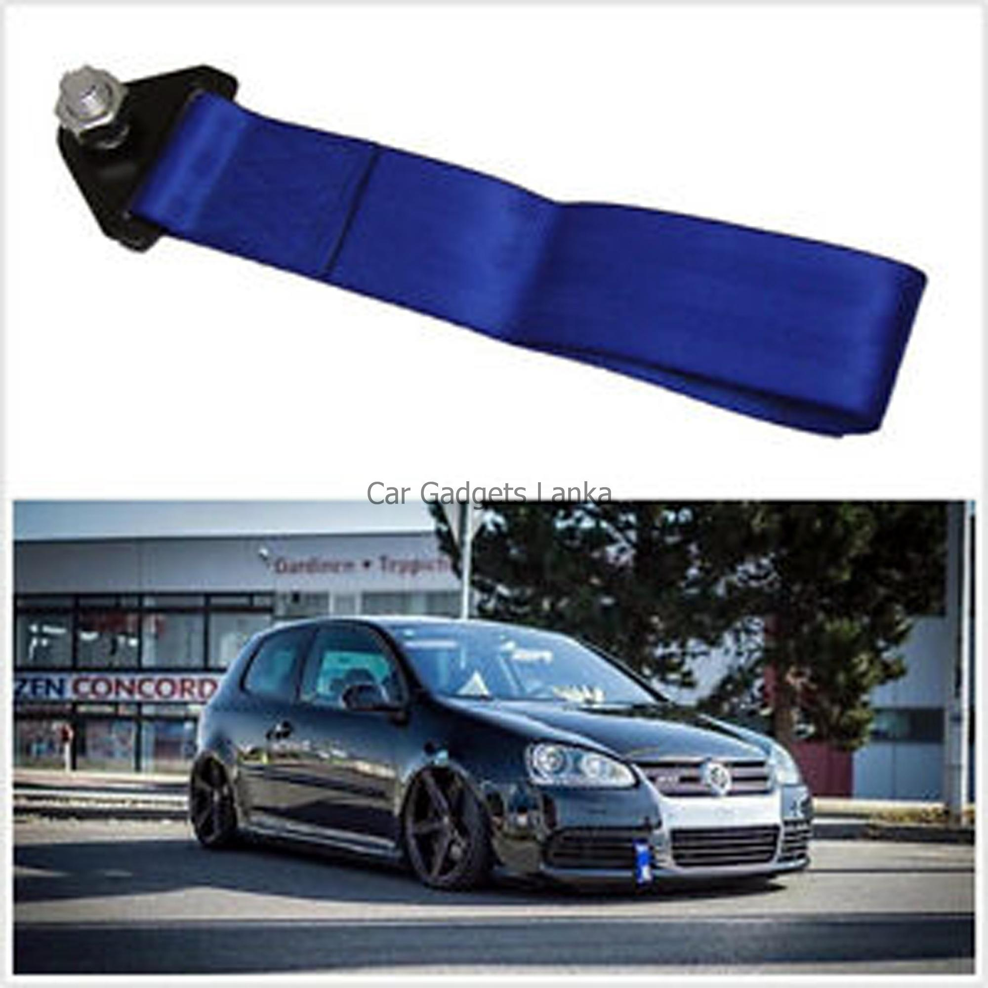 Car Racing Tow Towing Strap High Strength Pull Rope Belt Blue Colour