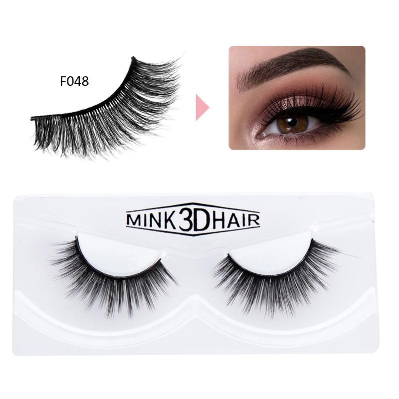 1b83f3212ba Mink Eye Lash Mink False Eyelashes Fashion 3D Black Voluminous Make Up Mink False  Lashes Extensions