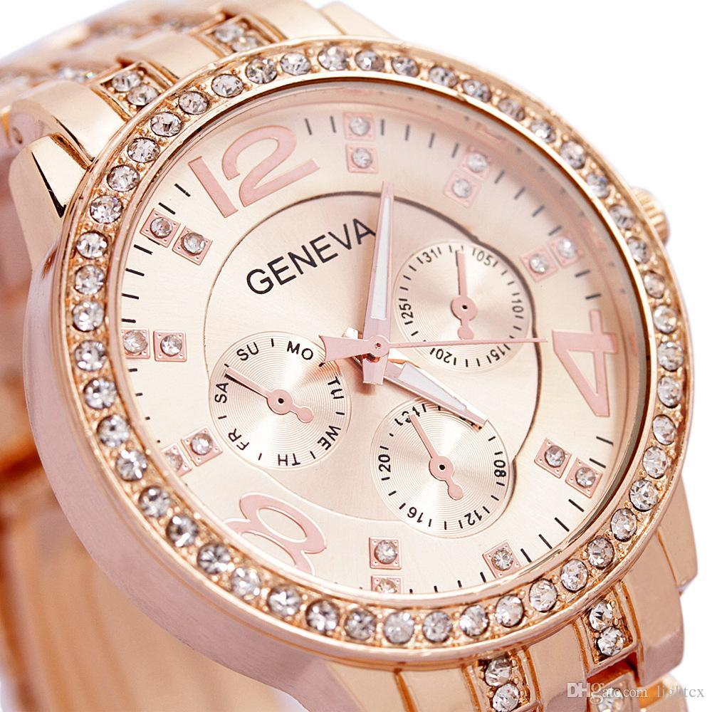 Women's Casual Analog Quartz Watch - Rose Gold
