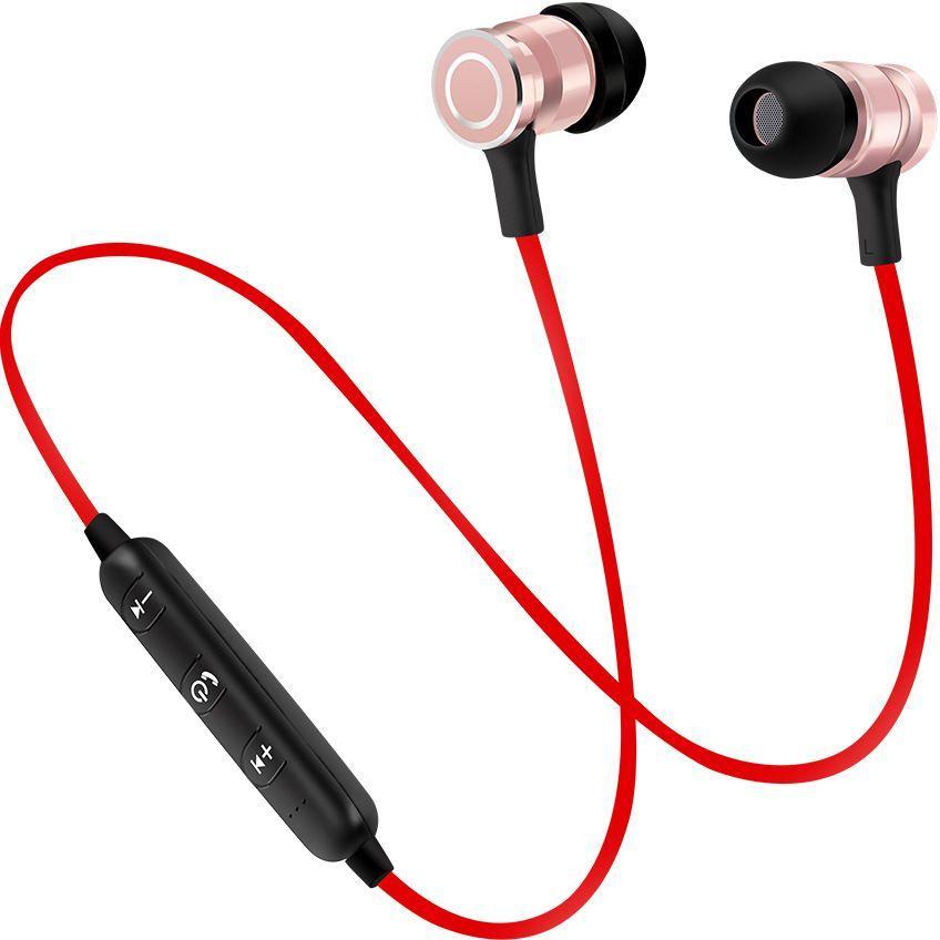 Wireless Bluetooth Earphone Headset Magnetic Sports Handsfree Black Buy Sell Online Best Prices In Srilanka Daraz Lk