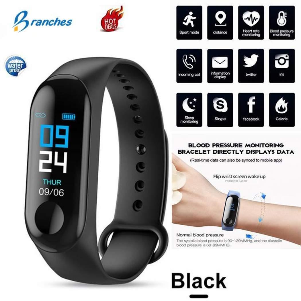 Unisex M3 Intelligence Health Bracelet Smart Sport Watch Health M3 Band,  Fitness Tracker
