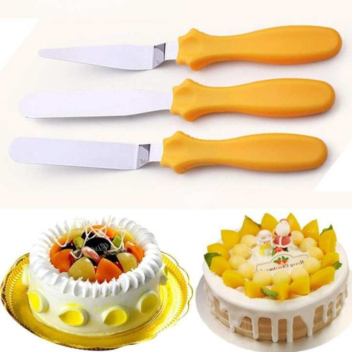 3Pcs Butter Cake Cream Sandwich Spatula Smoother Icing Spreader Fondant Pastry Cutter