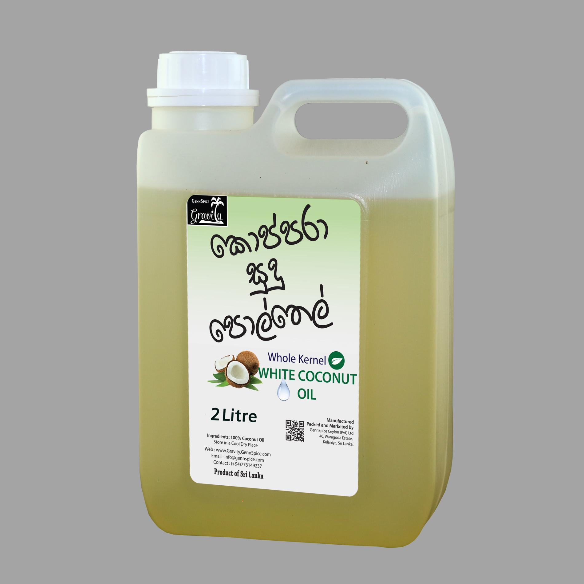 Gravity Copra White Coconut Oil 2 Liter Can