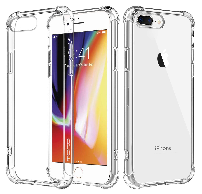 Transparent Reinforced Coners Bumper TPU Case For iPhone 7 Plus / 8 Plus